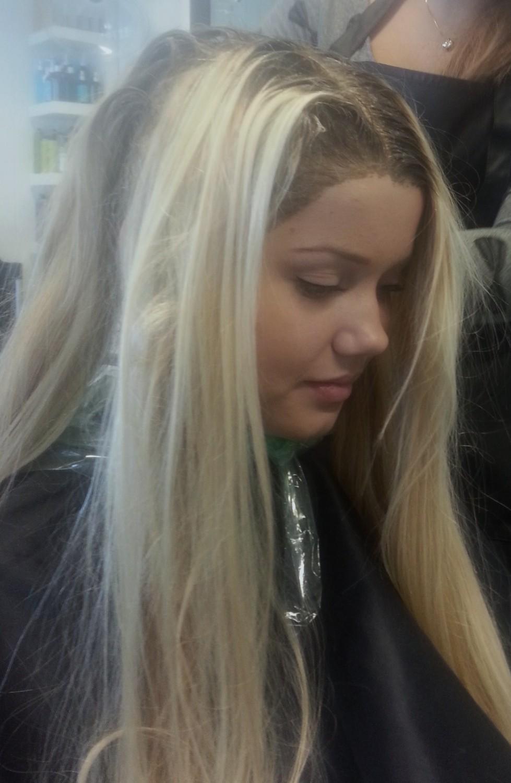 stripe håret lysere